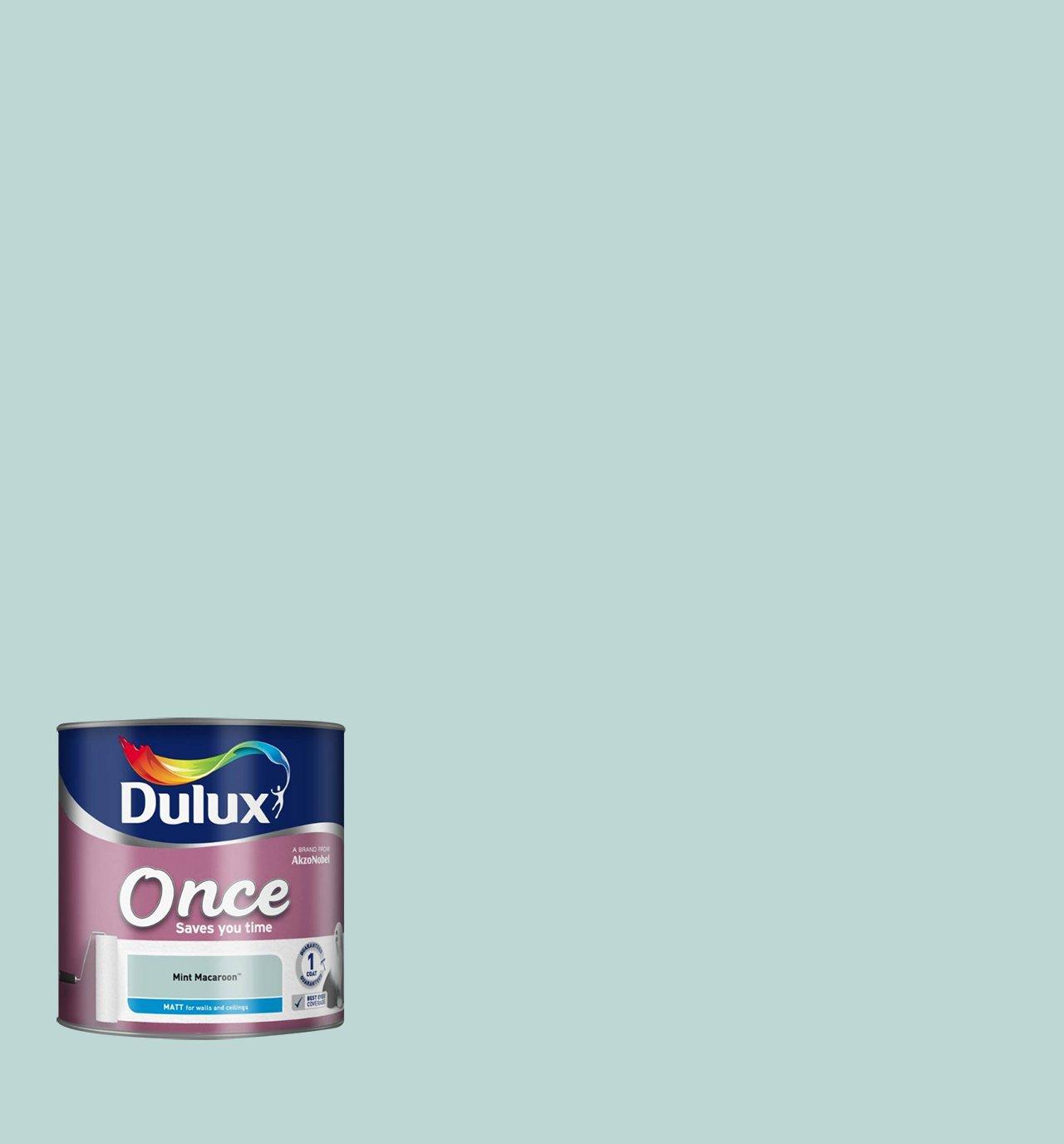 Dulux Once Matt Paint for Walls, 2.5 L - Mint Macaroon: Amazon.co ...