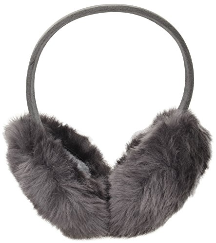 Simplicity Mens Warm Furry/ Fleece Winter Ear Muffs Earmuffs, Dark Grey