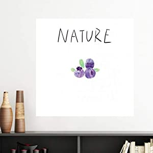 DIYthinker Blueberry Plant Island Painting Vinyl Wall Decoration Sticker Poster Wallpaper Decal Self Adhesive