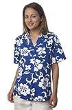 Benny's Womens Classic Hibiscus Hawaiian Shirt