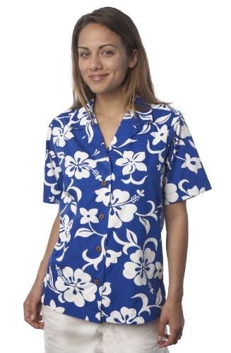 Benny S Womens Classic Hibiscus Hawaiian Shirt Buy