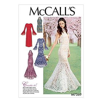 McCall \'s Damen Schnittmuster 7569 Spalte & Meerjungfrau-Kleider ...