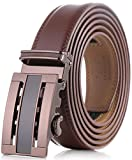Marino Men's Genuine Leather Ratchet Dress Belt with Automatic Buckle,...