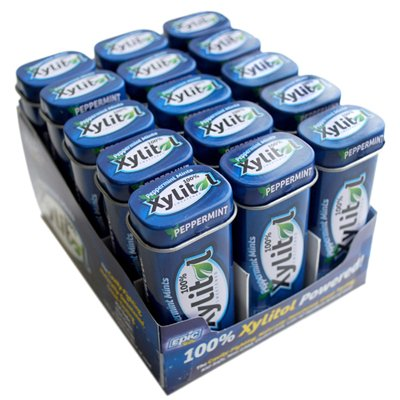 Epic Dental Mints - Peppermint Xylitol Tin - 60 Ct - Case Of 10 by EPIC DENTAL