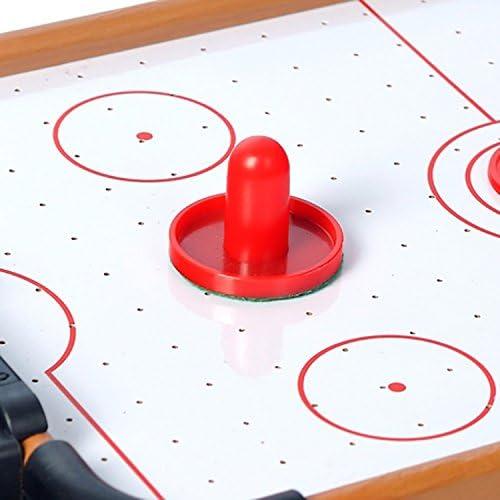 HAODELE Mini Mesa de Hockey de Aire Construcción de Madera MDF Un montón de Juegos Divertidos para Las Fiestas de cumpleaños: Amazon.es: Juguetes y juegos