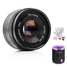 7artisans 50mm F1.8 Fuji X Mount Prime Portrait Lens for Fuji X Mount APS-C Mirrorless Cameras - Manual Focus Fixed