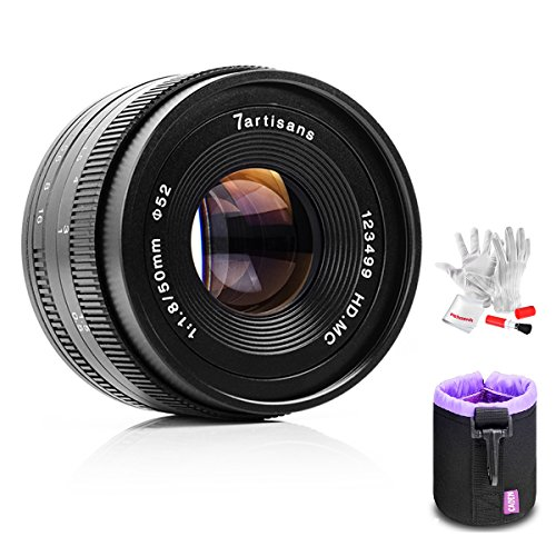7artisans 50mm F1.8 Prime Portrait Lens for Olympus Panasonic Micro Four Thirds MFT M4/3 Mirrorless Cameras - Manual Focus Fixed
