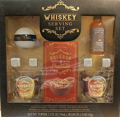 (Whiskey Serving Set with Smoked Honey Whiskey Topper and Bourbon Peanuts)