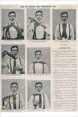 Impresión fotográfica de anudar una corbata de Ascot 1906: Amazon ...
