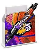 National Design NBA Desk Caddy with Pen, LA Lakers (3648-NBA-BJS)