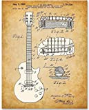 1955 McCarty Gibson Les Paul Guitar - 11x14 Unframed Patent Print - Great Gift for Guitar Players