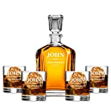 Personalized Whiskey Decanters Groomsmen Gifts for Wedding & Bachelor Party