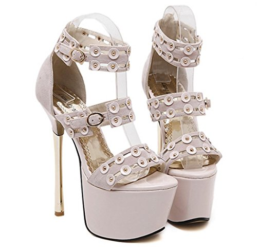 Ladies HETAO apricot Platform Size Girl's Womens High Toe Strappy Shoes Summer Stiletto Personality Gift Peep Sandal Heel 8O8wqaxr1