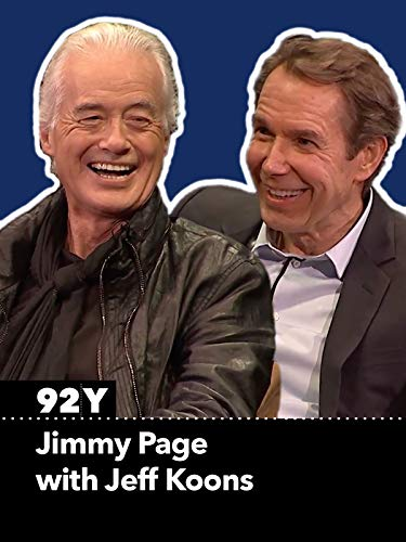 Jimmy Page with Jeff Koons