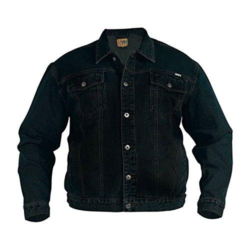 Duke KS1304 Denim Jeans-Jacke schwarz in Übergrößen: Farbe: schwarz   Größe: 60-3XL