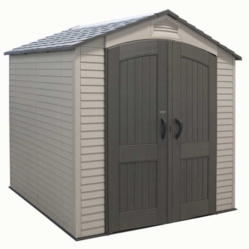 Lifetime Plastic Storage Shed 60042 7x7 With 2 Windows (7.5' Outdoor Storage Shed)