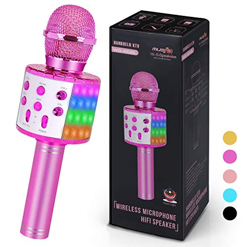 Wireless Karaoke Microphone for Kids Adults,Best Gift for 4 5 6 Year Old Little Girls,Top Girl Toys Age 3-12,Most Popular Birthday Presents for 7 8 9 10 Year Old Teenage Purple