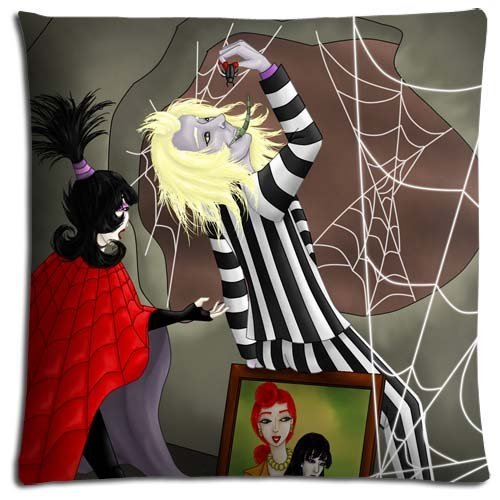 18x18 inch 45x45 cm throw pillow shells case Cotton Polyester ELEGANCE shrink resistant Beetlejuice tv