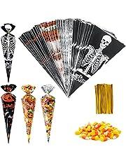 Zwarte mantel, Halloween Hooded Cape Unisex met plastic zeis en masker, heksen Cape volwassen Grim Reaper Vampier Party Halloween Kostuums - 38