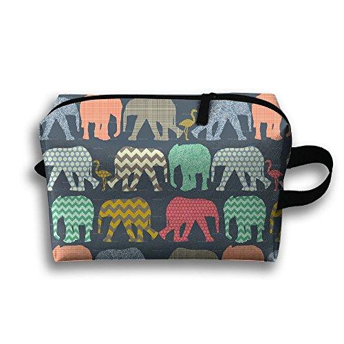 Elephant Art Print Cosmetic Bags Makeup Organizer Bag Pouch Purse Handbag Clutch Bag