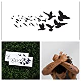 Tattify Flock Of Birds Temporary Tattoo - Windsong (Set of 2)