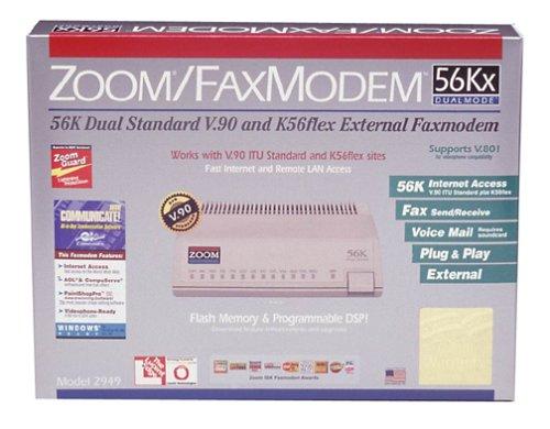 Zoom 2949-00-00L 56K/14.4K V90 Dual Mode RJ11 Fax/Modem
