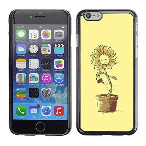 GooooStore/Housse Etui Cas Coque - Sun Flower Pot Watering Can Yellow Happiness - Apple iPhone 6