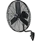 GARRISON 2477844 3-Speed Industrial Oscillating Wall Mount Fan with 9500 CFM, 30