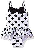 Little Me Baby Girls' Swimsuit, Black & White, 18M