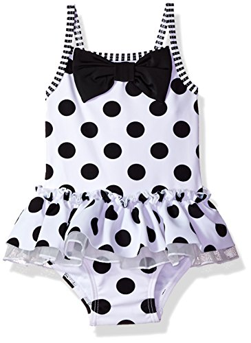 Little Me Baby Girls' Swimsuit, Black and White New, 3T