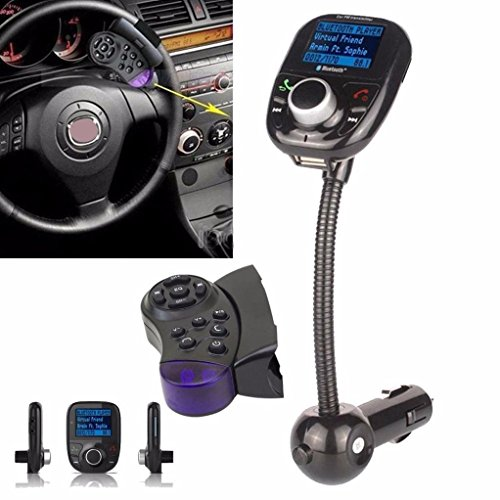 Creazy LCD Car Kit MP3 Bluetooth Player Audio FM Transmitter FM Modulator Radio SD MMC