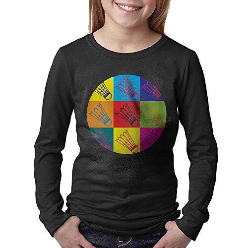 Liberia Sheet (Badminton Rainbow Art Juniors Long Sleeve Cotton Crew Neck T-Shirt Tee)