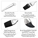 "Basting Brush - 2 Pack Pastry Silicone Sauce Butter BBQ Brushes with Stainless Steel Handle-12"" and 7"" Great for Baking ,Cooking,Grilling Safe Heat Resistant 12 SAUCE BASTING BRUSH SET - Set of 2: 12"" & 7"". The perfect size stainless steel handles to baste your chicken, beef, fish, pork, and other meats. What You Get: 2 Pastry Brush, 2 Brush Heads. *And 1 Pepper Grinder FREE for you if you ""Add both to Cart"".* GREAT BRUSH WORKS PERFECT - Easy to clean, FAR is better than standard nylon brush. This pastry brush can last for a long time. You can take off the brush head and wipes it off with a cloth after cleaning. SAFE AND DURABLE - Top quality basting brush, made of 100% FDA approved stainless steel and BPA-Free grill basting brushes."