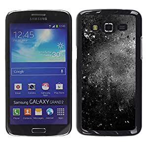 MOBMART Carcasa Funda Case Cover Armor Shell PARA Samsung Galaxy Grand 2 - Black And White Worn Out Pavement