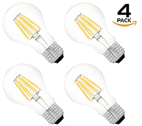 Westgate Lighting A19 Led Light Bulbs Dimmable Filament
