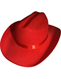 New Child's Country Red Cowboy Felt Costume Hat