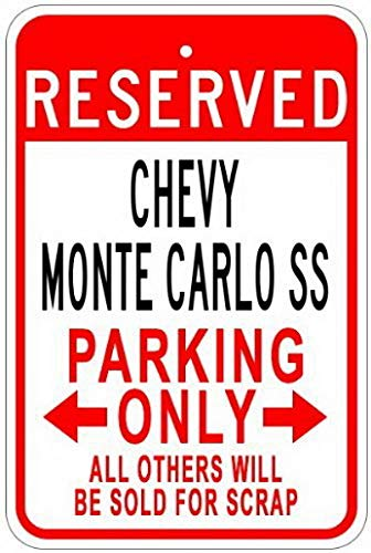 hevy Monte Carlo Ss Parking Sign - 8 X 12 Inches ()