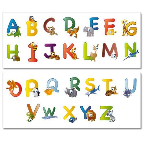 Fabuleux Pegatinas para la pared Wandkings ABC animal, abecedario ingl?s  RM17