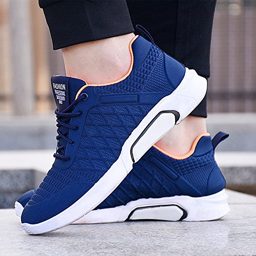 de Bas Sneakers Sneakers de Mesh Scothen Hommes Gym Chaussures Lacets Top Chaussures Courir Fitness Course Loisirs Respirant Sneakers Course blue Sneakers z6paHpx