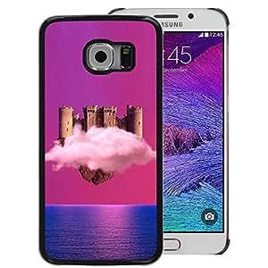 Snap-on Series Teléfono Carcasa Funda Case Caso para Samsung Galaxy S6 EDGE , ( Cloud Castle )