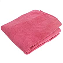 Beach Lounge Towel Carry With Pockets For Holiday Garden - Pink