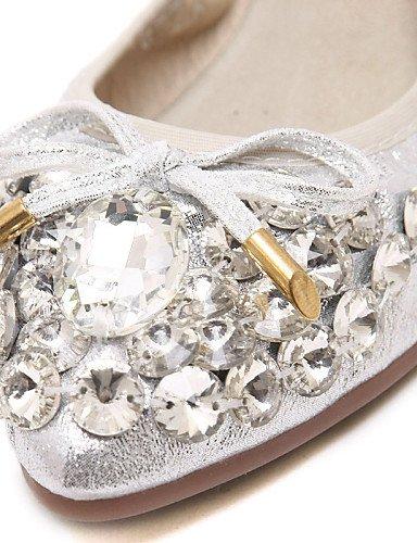 talón de negro zapatos oro uk4 Flats us6 black PDX Casual plata eu36 de Mocasín tipo cn36 comodidad plano mujer piel dS7qwBXq