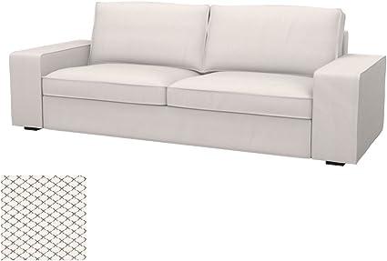 Divano Letto Kivik Ikea.Soferia Ikea Kivik Fodera Per Divano Letto A 3 Posti Nordic White Amazon It Casa E Cucina