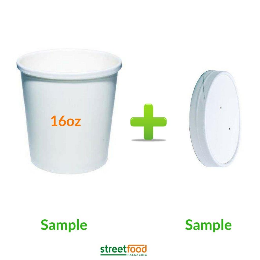 Recipiente desechable para sopa, Envase carton blanco para comida ...