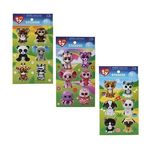Beanie Boos 3D Sticker Mega Pack: Pets, Jungle and Girly Sticker Sets