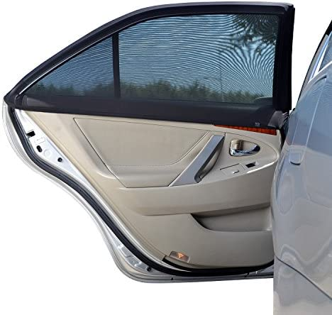 WANPOOL Universal Fit Car Side Window Baby Sun Shade - Protects Your Kids from Sun Burn - Double Layer Design - Maximum Protection - 2 Pieces by WANPOOL