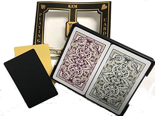 2 Free Cut Cards + Kem Jacquard (Burgandy/Green) Bridge Regular Index