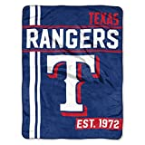 The Northwest Company MLB Texas Rangers Micro Raschel Throw, One Size, Multicolor