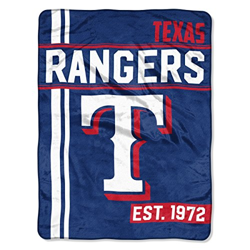 The Northwest Company MLB Texas Rangers Micro Raschel Throw, One Size, -