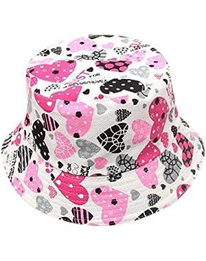 Toddler Baby Kids Boys Girls Floral Pattern Bucket Hats Sun Helmet Cap